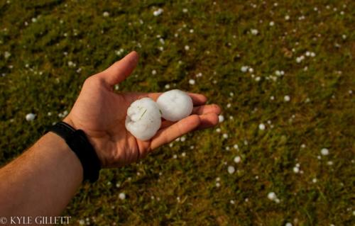 Ping Pong Ball sized hailstones. Eastern Colorado. May 2019 - Kyle Gillett