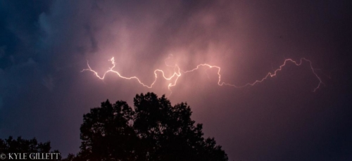 Evening Lightning over Jackson Michigan. July, 2019 - Kyle Gillett
